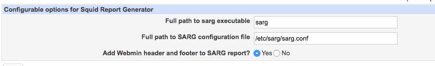 webmin sarg configuration